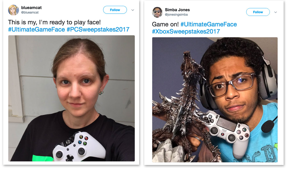 Microsoft Ultimate Game Face Entries
