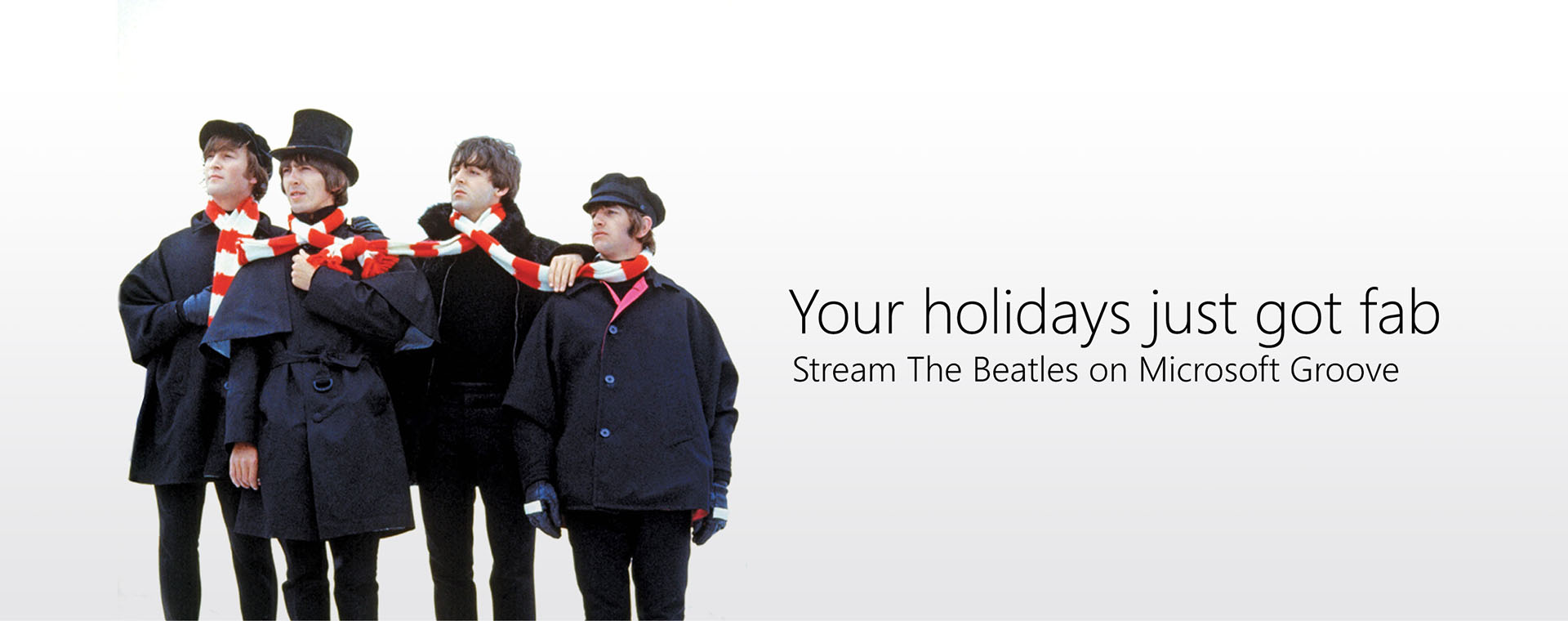 The Beatles on Microsoft Groove Banner