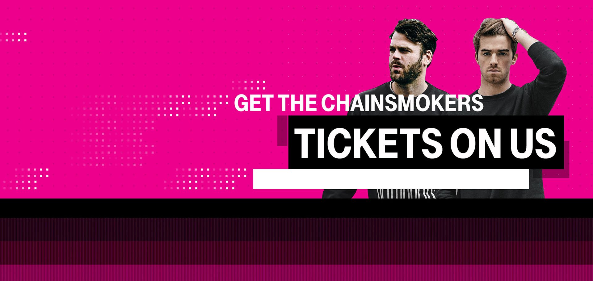 Chainsmokers Tickets Banner