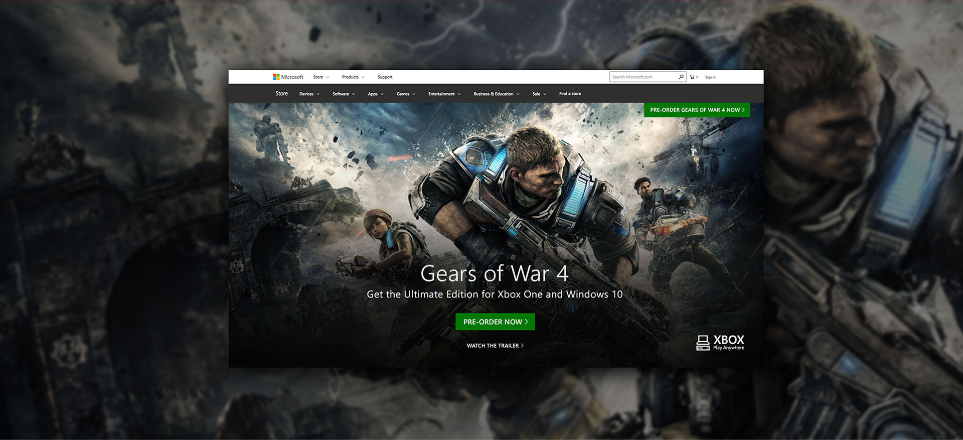 Gears of War 4 Banner
